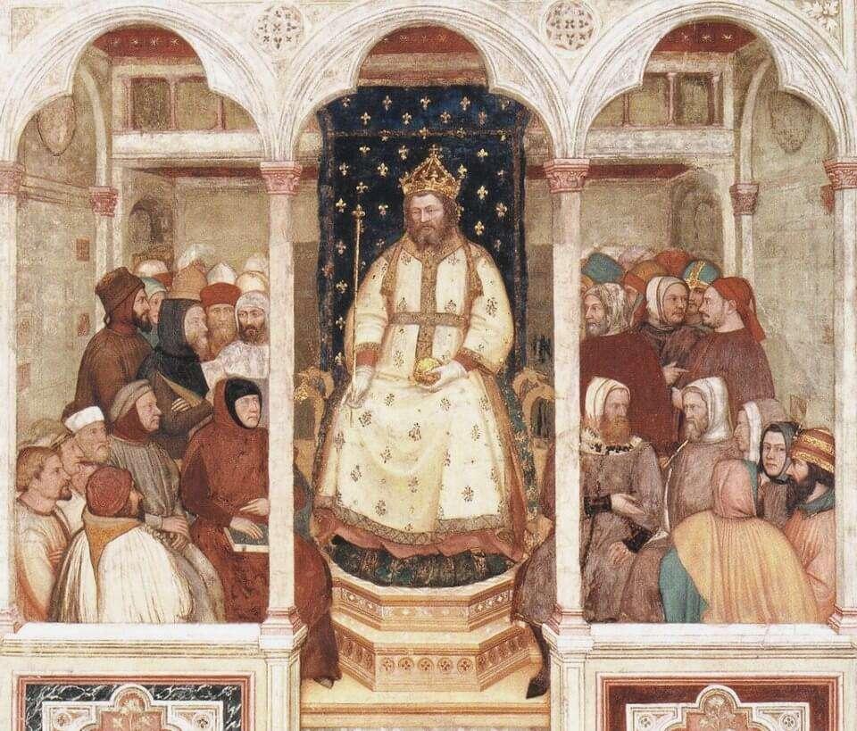 Nagy Lajos a padovai Szent Antal bazilika freskóján