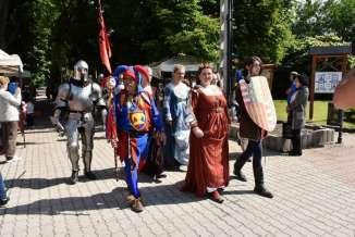 Renaissance-kavalkade in der burg Diósgyőr